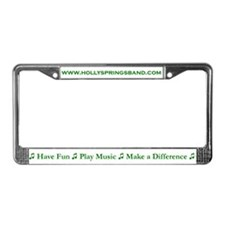 Holly Springs Community Band License Plate Frame