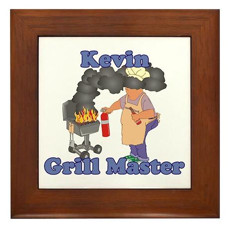 Grill Master Kevin Framed Tile