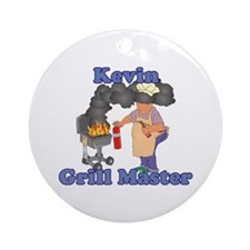 Grill Master Kevin Ornament (Round)