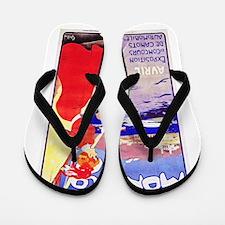Monaco Travel Poster 1 Flip Flops