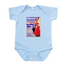 Monaco Travel Poster 1 Infant Bodysuit