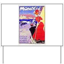 Monaco Travel Poster 1 Yard Sign