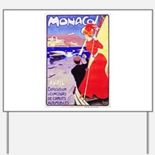 Monaco Travel Poster 1 Yard Sign