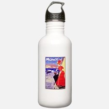 Monaco Travel Poster 1 Water Bottle