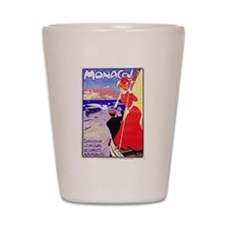 Monaco Travel Poster 1 Shot Glass