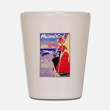 Monaco Travel Poster 1 Shot Glass
