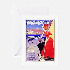 Monaco Travel Poster 1 Greeting Card
