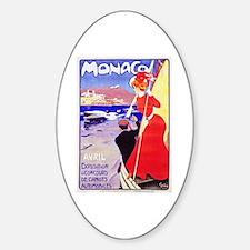 Monaco Travel Poster 1 Decal