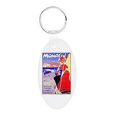 Monaco Travel Poster 1 Keychains