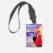 Monaco Travel Poster 1 Luggage Tag