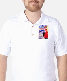 Monaco Travel Poster 1 Golf Shirt