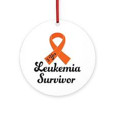 5 Year Leukemia Survivor Ornament (Round)