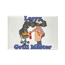 Grill Master Larry Rectangle Magnet