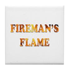 Fireman Flame Tile Coaster