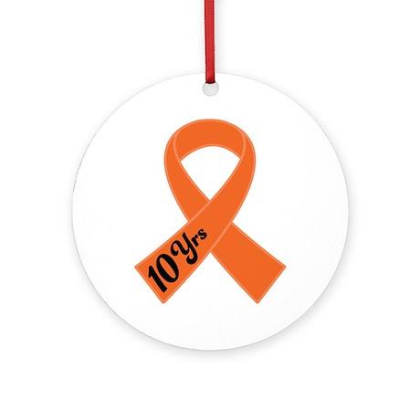 10 Year Leukemia Survivor Ornament (Round)