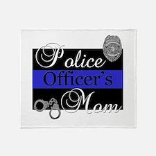 Police Mom Throw Blanket
