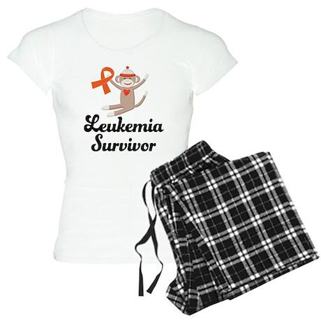 Leukemia Survivor Sock Monkey Women's Light Pajama