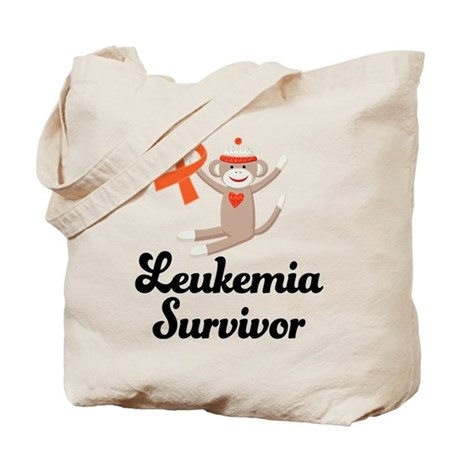 Leukemia Survivor Sock Monkey Tote Bag