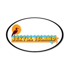 Jekyll Island GA - Oval Design. Wall Decal