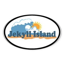 Jekyll Island GA - Oval Design. Decal