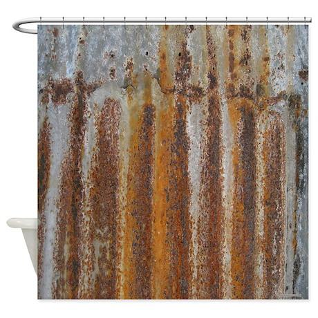 Goth Shower Curtain Part - 43: Rusty Tin Shower Curtain