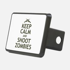 Keep Calm and Shoot Zombies Hitch Cover