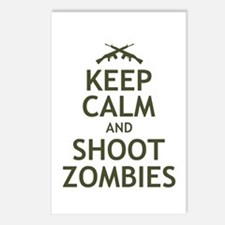 Keep Calm and Shoot Zombies Postcards (Package of