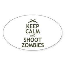 Keep Calm and Shoot Zombies Decal