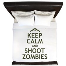 Keep Calm and Shoot Zombies King Duvet
