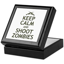 Keep Calm and Shoot Zombies Keepsake Box
