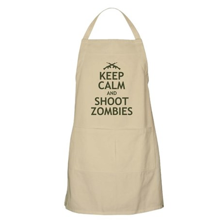 Keep Calm and Shoot Zombies Apron