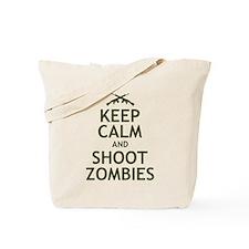 Keep Calm and Shoot Zombies Tote Bag