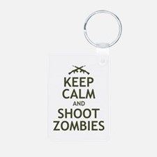 Keep Calm and Shoot Zombies Keychains