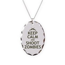 Keep Calm and Shoot Zombies Necklace