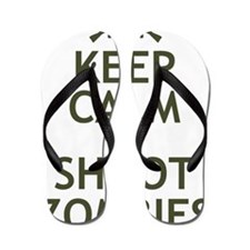 Keep Calm and Shoot Zombies Flip Flops