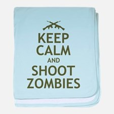 Keep Calm and Shoot Zombies baby blanket