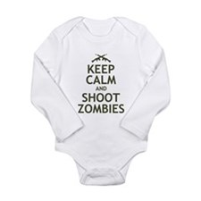 Keep Calm and Shoot Zombies Long Sleeve Infant Bod