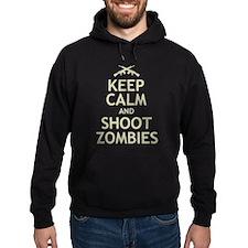 Keep Calm and Shoot Zombies Hoodie