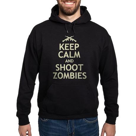 Keep Calm and Shoot Zombies Hoodie (dark)