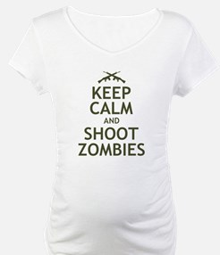 Keep Calm and Shoot Zombies Shirt