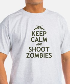 Keep Calm and Shoot Zombies T-Shirt