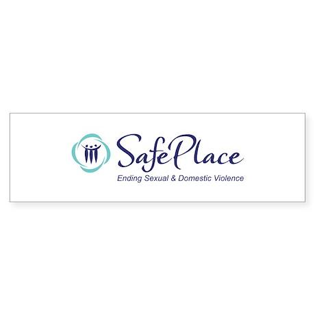 SafePlace Logo w/tagline Bumper Sticker