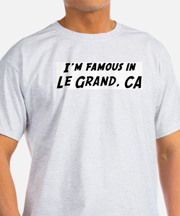 Famous in Le Grand Ash Grey T-Shirt