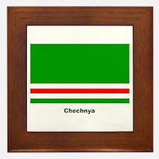 Chechan Chechnya Flag Framed Tile