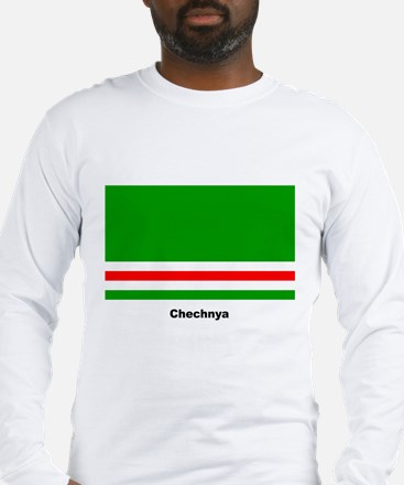 Chechan Chechnya Flag (Front) Long Sleeve T-Shirt