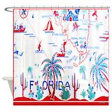 Florida vintage Shower Curtains