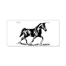 AFTM BW Trotting Stallion.jpg Aluminum License Pla