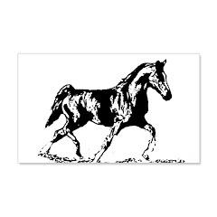 AFTM BW Trotting Stallion.jpg Wall Decal