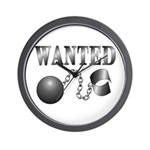Ball And Chain WANTED! Wall Clock