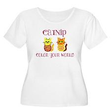 Colorful Catnip Women's Plus Size T-Shirt